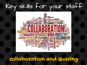 Examples of collaboration in the workplace
