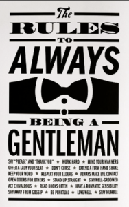 rules to be a gentleman